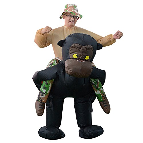 Piggyback Costumes Ride On Chimpanzee Costume - Riding Shoulder Costume (Chimpanzee) -