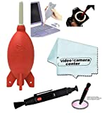 Giottos AA1903 Rocket Air Blaster Large-Red+VCC113 Micro-Fiber Cloth+Cleaning Lens Pen