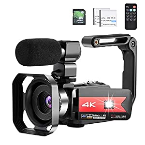 Flashandfocus.com 412SxGGFLJL._SS300_ OIEXI Video Camera 4K Camcorder Vlog Camera for YouTube, HD Digital Camera with 16X Digital Zoom and Night Vision, Video…