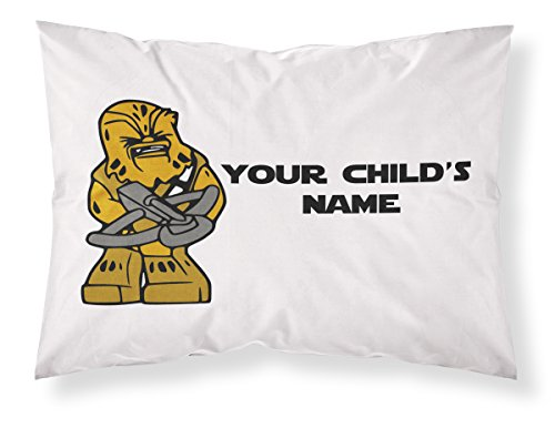 Customizable, Starwars Themed Pillowcase, Featuring CHEWBACCA! Personalized With Your Child's Name - Perfect Gift For Boys Of All (Star Wars Themed Baby Shower)