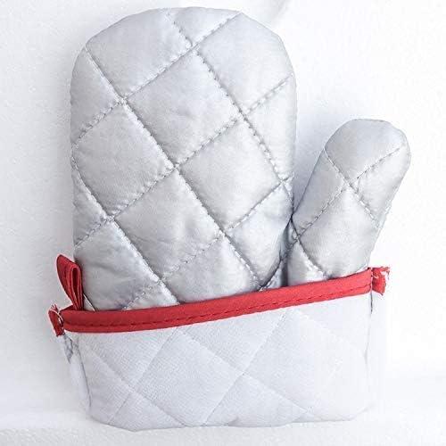 Guantes para hornos domésticos, Guantes antiescaldantes Guantes para Adultos más algodón con Aislamiento Antideslizante Horno microondas Vapores caseros