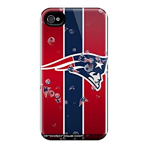Awesome Design New England Patriots Hard Cases Covers For Iphone 4/4s
