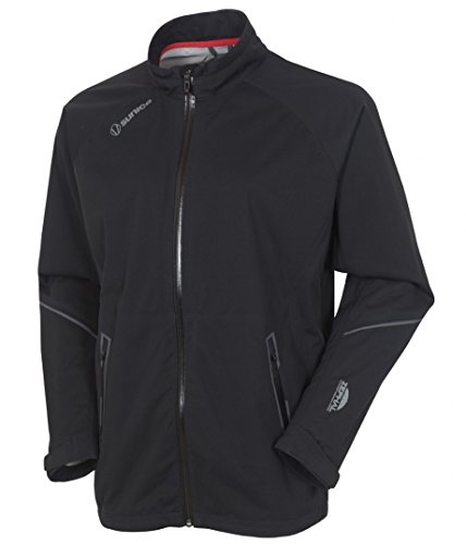 Sunice Golf Mens Jay Waterproof Ultra-Stretch 2.5 Jacket Black Extra Large