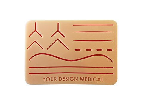 Your Design Medical – Large Durable 3-Layer Suture Pad Kit with Wounds for Suturing Practice – Made in Brooklyn, USA – Authentic Brand/Beware Our Knock Offs -– Includes Free Educational Material by Your Design Medical