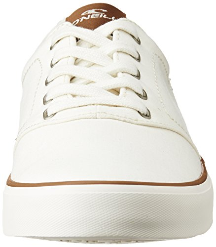 O'Neill Mens Psycho LCVS Lace Up Twill Canvas Sneaker Shoe Black Blanco - blanco