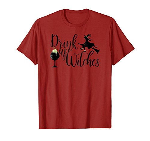 Halloween T Shirt Women Drink Up Witches Funny Witch Gift