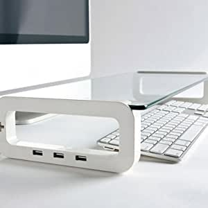 iClooly UBoard (iMac, Laptop & Computer Monitor Stand With Multi USB Port)