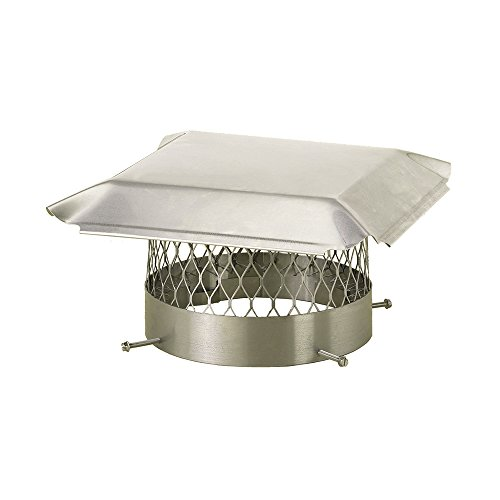 "Draft King SS10U Round Bolt On Stainless Steel Single Flue Chimney Cap, 10"" Diameter"