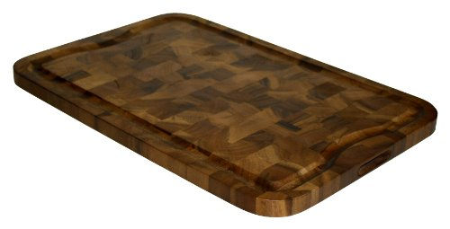 Mountain Woods EGXLAC 24 X 16 Professional End Grain Acacia Cutting Board W/Juice Groove, 24 x 16 x 1