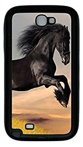Samsung Note II Case Black Stallion TPU Custom Samsung Note 2 Case Cover Black