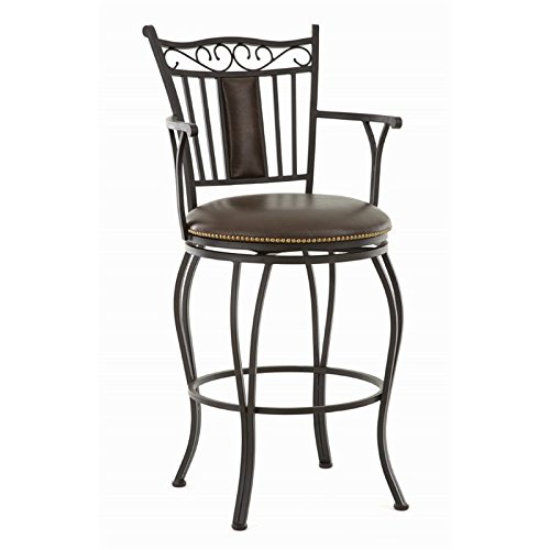Steve Silver Swivel Bar Stool with Armrest