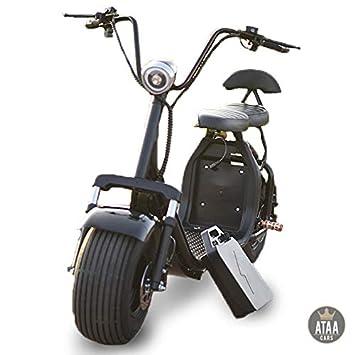 89d059d4abf3 ATAA CARS CityCoco Batterie Amovible - Scooter  Trottinette électrique pour  Adulte Chopper Style Harley