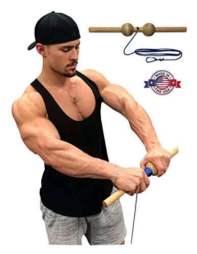 Pro Wrist Roller - Wrist Blaster - Forearm, Hand and Wrist Exerciser (2.5 inches, Sphere (Ball))