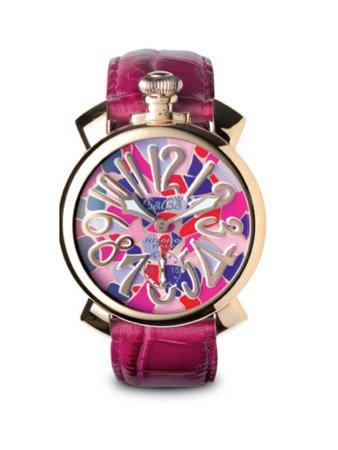 GAGA MILANO 5011.MOSAICO 2 MANUALE 48MMガガミラノ 腕時計 レザーベルト【並行輸入品】  B007KFEH20