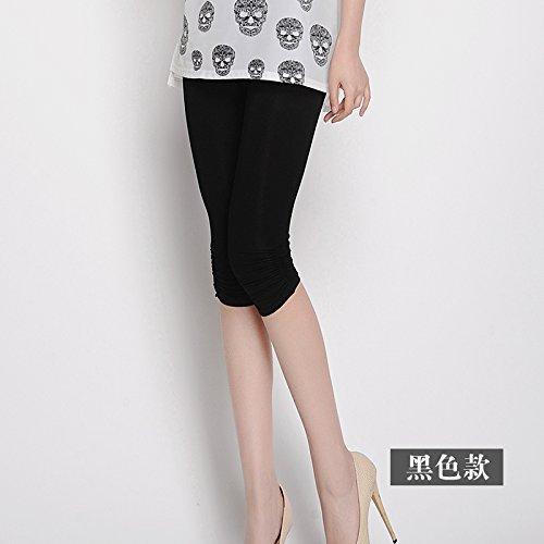GaoXiao sept points, bottompants, été mince, 7 pantalon taille haute, élastique jambe de pantalon,xl white