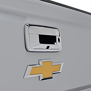 E-Autogrilles Triple Chrome ABS Exterior Accessories Trims Tailgate Door Cover for 14-16 Chevrolet Silverado 1500 / 14-16 GMC Sierra 1500 / 15-16 Chevrolet Silverado 2500/3500 / 15-16 GMC Sierra 2500/3500 ( 64-0135 ) by E-Autogrilles