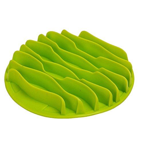 Machao Pet Fun Mat Slow Portable Dog Feeder Bowl,Interactive Bloat Stop Dog Bowl-Anti-Choke Bowl Pet Bowl, Healthy-Green-Small