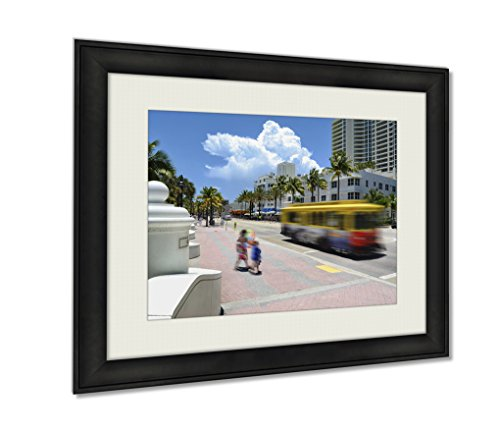 Ashley Framed Prints, Fort Lauderdale Beach, Wall Art Decor Giclee Photo Print In Black Wood Frame, Ready to hang, 20x25 Art, - Olas Las To Directions