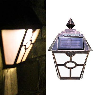 ❄TianranRT❄ Luz Solar Para Jardín,Lámpara de Jardín Con Cerco de ...