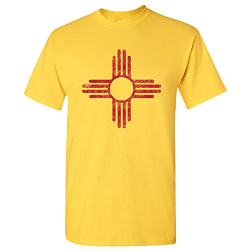 (New Mexico State Flag Basic Mens T-Shirt - Large - Daisy)