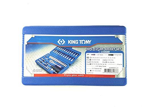King Tony KingTony 46pc 1/4 Socket Set 2346 Tool Kit Price & Reviews