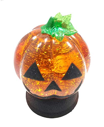 Sonoma Orange Pumpkin Ghost Halloween Decorative Glitter Globe by Sonoma