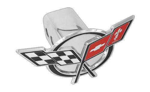 Chevy Metal Trailer Hitch Cover Plug C5 Corvette Design 3D Flag Emblem