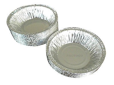 "Durable Packaging 4 7/8"" Foil Tart Pan 1 1/4"" Deep 25/Pk - Disposable Aluminum Mini-Pie Plate Tin (pack of 25)"