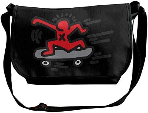 ショルダーバッグ スポーツバッグ ワンショルダー キース ヘリング メッセンジャーバッグ 斜めがけ ボディバッグ 肩掛けバック 大容量 A4ファイル収納可能 多機能 日常お出かけ 通勤 通学 無地 メンズ カバン ユニセックス