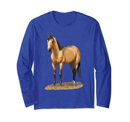 Buckskin Quarter Horse (Unisex Beautiful Buckskin Dun Quarter Horse Shirt 2XL Royal Blue)