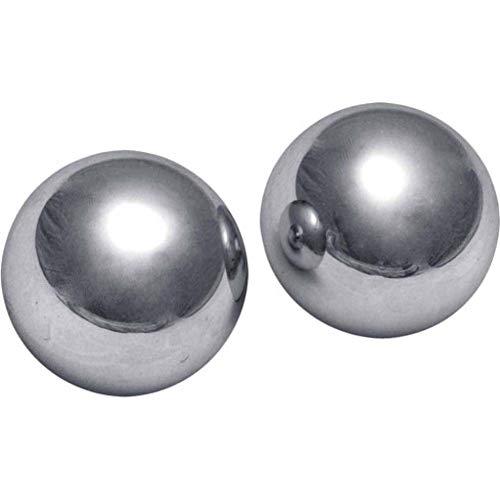 (Noa Store Big XL Ben Wa 2 Inch Kegel Balls Steel Exercise Extreme Large Massive Huge Giant Grey Metal Heavy Weight Hard Geisha Yoni)