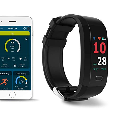 FOMO Fit GPS Fitness Watch Designed in California. Built-in GPS and Multi-Touch Color Screen. Automatically Track Your Heart Rate, HRV, Blood Pressure Fitness, and Sleep. Beautiful Mobile app. (Wrist Heart Rate Monitor Gps)