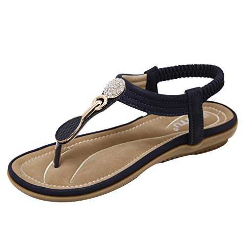 ZAMME Women's Ladies Summer Beach Comfortable Sandals Shoes Blue g8OlRxG78B