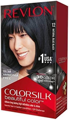 Revlon Colorsilk Natural color de pelo, 12 azul, negro (Pack de 6)