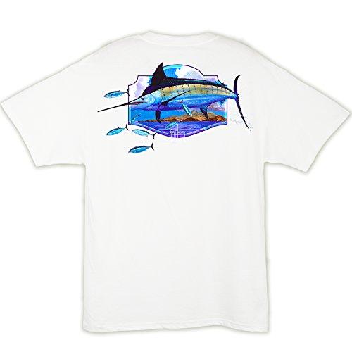 Xxx Guy (Guy Harvey Mens Big Bill S/S Pocket T-Shirt (XXX-Large, White))