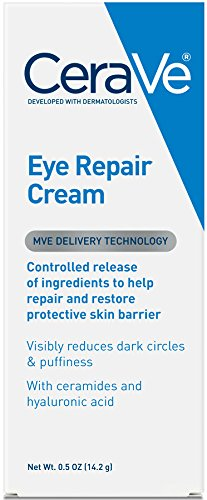 CeraVe Eye Repair Cream 0.5 oz for Dark Circles Under Eyes and Puffiness