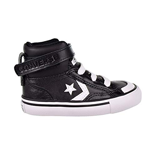 Converse Boys Infants' Pro Blaze Strap Leather High Top Sneaker, Black White, 8 M US Toddler Boys Urban High Top