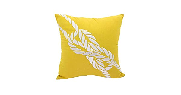 Amazon.com: Cuerda decorativo Throw almohada cover, Amarillo ...