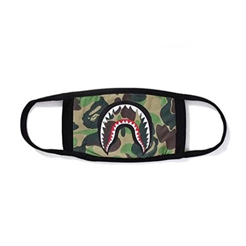 Joint Fashion Hot A Bathing Shark Black Face Mask Camouflage Mouth-muffle Cover(A)
