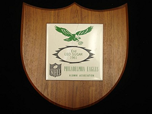 (1961 Philadelphia Eagles Alumni Association Plaque - Leo Sugar, LOA)