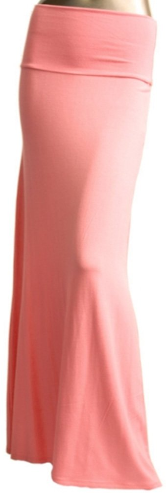 Azules Women'S Rayon Span Maxi Skirt - Solid ASK9001RS
