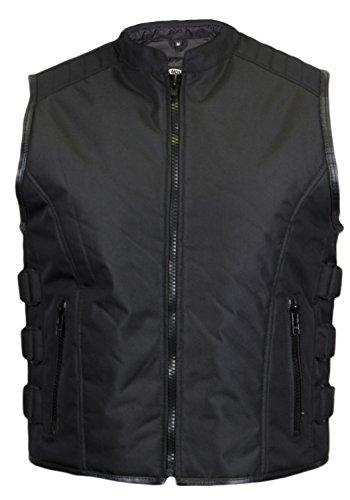 Textil Bikerweste in schwarz (L)