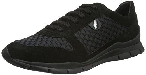 D Mujer Geox a para Schwarz Zapatillas Blackc9999 Sukie Wz66qfR