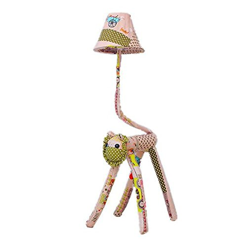 HOMEE Children's room floor lamp cartoon creative boys and girls bedroom bedside lamp lovely cloth animal decoration table lamp by HOMEE