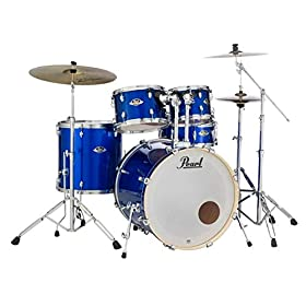 Pearl Export EXX 5-Piece Drum Set with Cymbals Hardware - High Voltage Blue 8