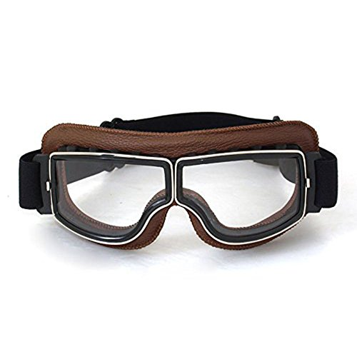 Triclicks Helmet Goggles Glasses Eyewear Motorcycle Anti-Fog Retro for - Goggles Retro