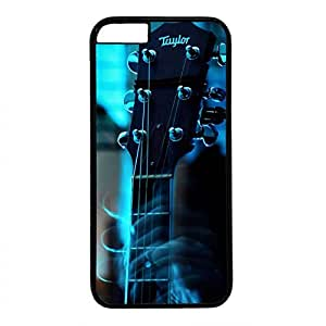 Unique Design Case for iphone 6,Fashion Black Plastic Case Back Cover for iPhone 6 with Guitar