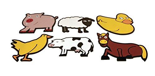- Poly Enterprises Vinyl Farm Animal Spot, Assorted Animals (Set of 6)