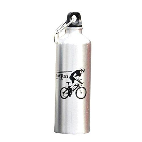 Botella de los deportes al aire libre de los deportes de la botella de los deportes del metal de la aleación de aluminio: Amazon.es: Instrumentos musicales