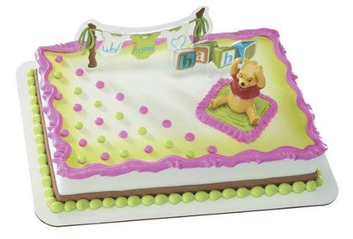 Welcome Baby DecoSet Cake Decoration (Pooh Bear Birthday Invites)